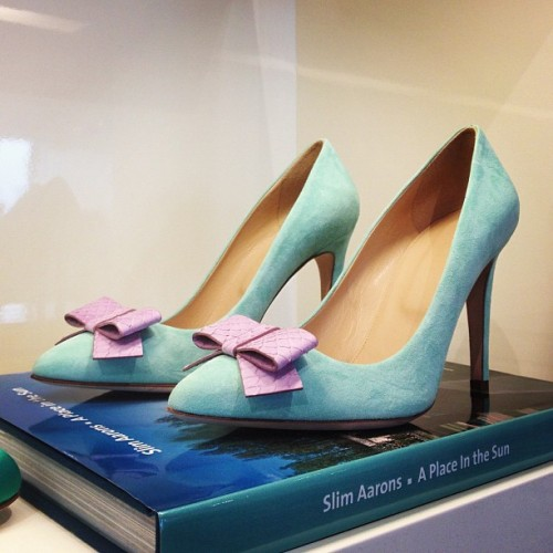 Pastel, bow-bedecked heels from J.Crew spring 2013 Photographed by Julia Rubin