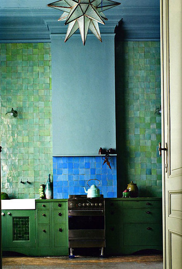 Moroccan inspiration in the kitchen (via AptTherapy). #Design #Interiors