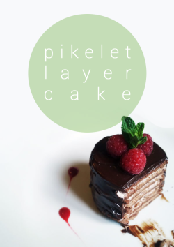 Pikelet layer cake