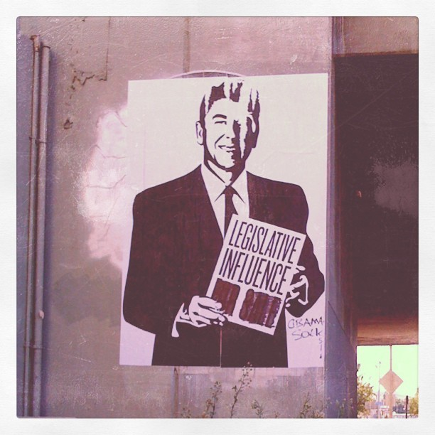 #reagan #wheatpaste #streetart #hollywood