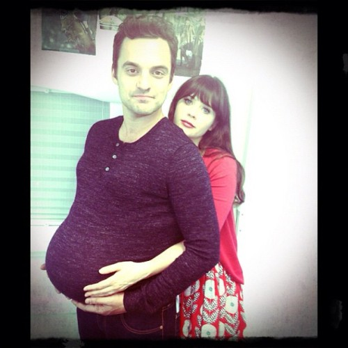 Jake Johnson is preggers! Cc: @markjakejohnson
