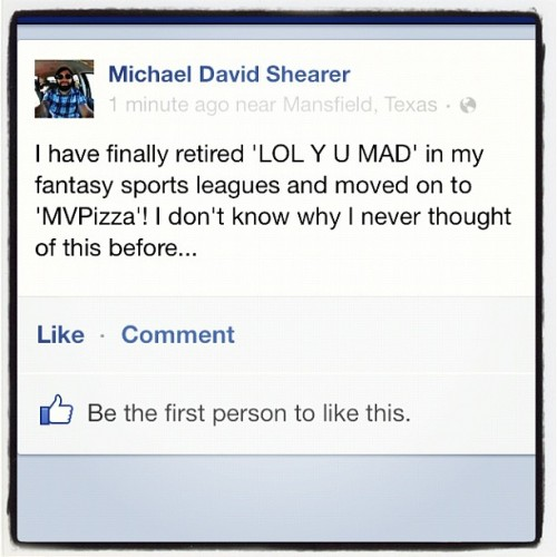 #MVPizza #fantasy #sports #LOLYUMAD?!  (at Bell's)