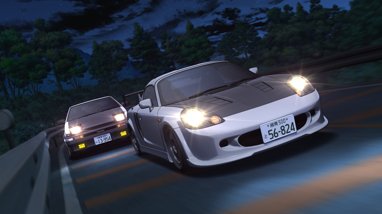 very-anonymous:  Initial D Fifth Stage Preview: AE86 vs MR2 Spyder