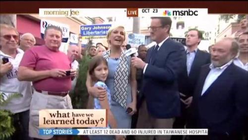 MSNBC Morning Talk Show Audience Boos Little Girl for Supporting Romney[VIDEO] —> http://bit.ly/QEwo6j'LIKE' and 'REBLOG' if you agree —> This kind of CLASSLESS behavior is NOT surprising coming from an MSNBC audience!!
