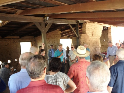 Rich speaking to a group at a turn-of-the-century stable in Tucson aka The Old Pueblo!