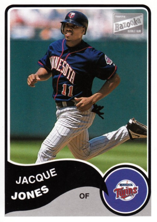 Random Baseball Card #2019: Jacque Jones, outfielder, Minnesota Twins, 2003, Topps.