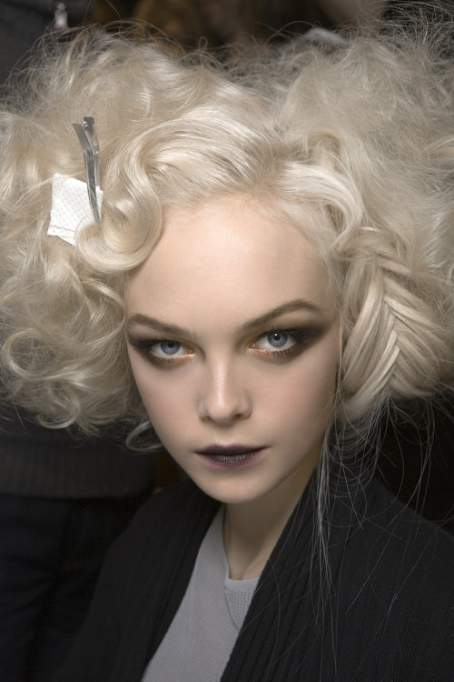 thedoppelganger:  Siri Tollerod, backstage at Christian Dior Fall 2010 Ready to Wear