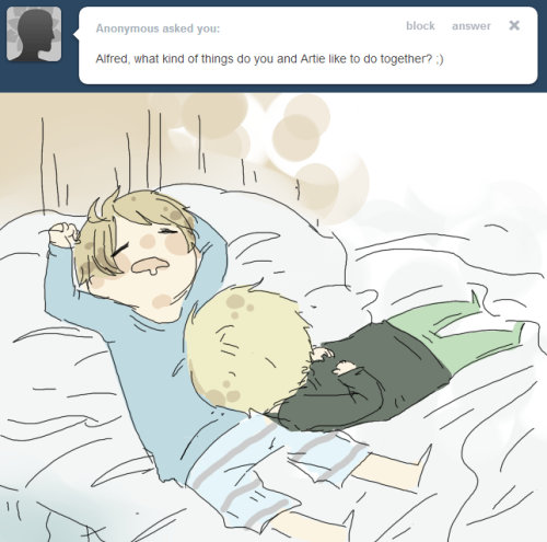 ask-mania-alandarthur:  Sleep.