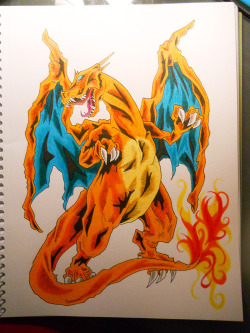The sixth Pokemon in my personal Pokemon art challenge… #006: Charizard :) Find the rest of my artwork here