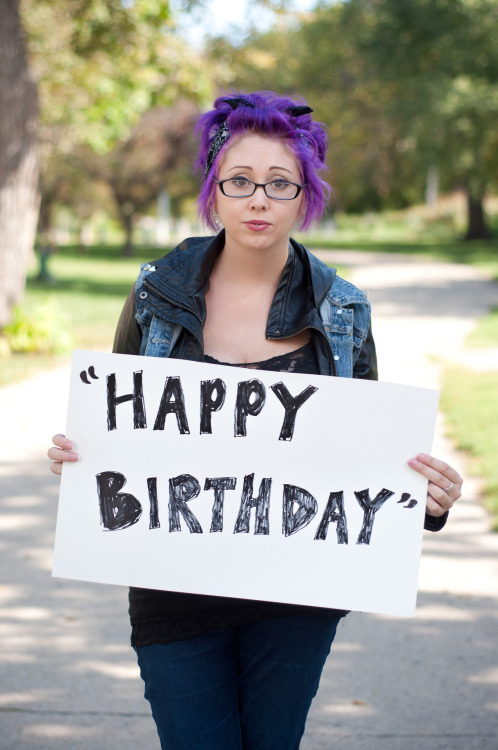 "projectunbreakable:  The poster reads: ""Happy Birthday"" — Photographed in Chicago, IL on September 27th — Click here to learn more about Project Unbreakable. (trigger warning) Facebook, Twitter, submissions, FAQ, donate to Project Unbreakable Join our mailing list! Email kaelyn@project-unbreakable.org with the subject line ""Newsletter"" to be the first to hear about our two exciting announcements.  Major triggers, but an important, beautiful project."