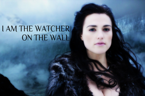Morgana as a watcher on the wall or a female jon snow.