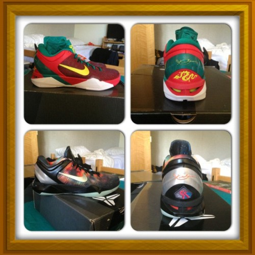 Picked up Kobe VII Year of the Dragon and Kobe VII All Star Game! I love these shoes haha. (at Selva)