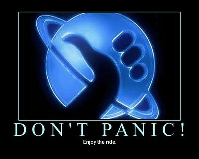 hitchhikers guide dont panic