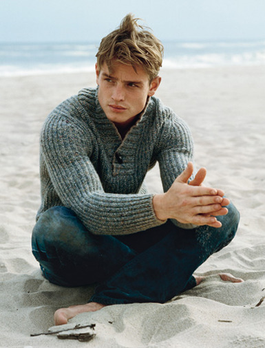 Sweater by Brunello Cucinelli, jeans by Diesel.