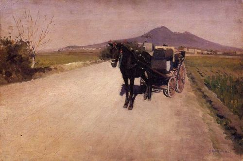 A Road Near Naples Gustave Caillebotte