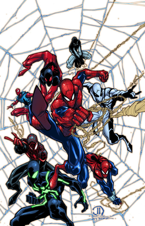 SPIDEY MONTAGE COLORS by *JoeyVazquez