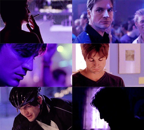 Brian Kinney + Purple [asked by pinkmanwhite]