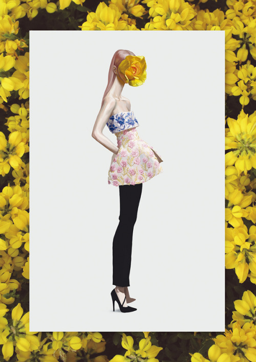 940302:  Dior Couture illustration by Ignasi Monreal for Spanish V Magazine