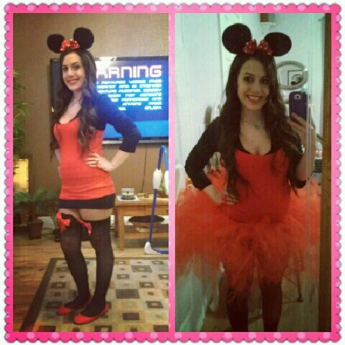 My Minnie Mouse costume ..tutu or no tutu #halloween #costume #minniemouse #tutu