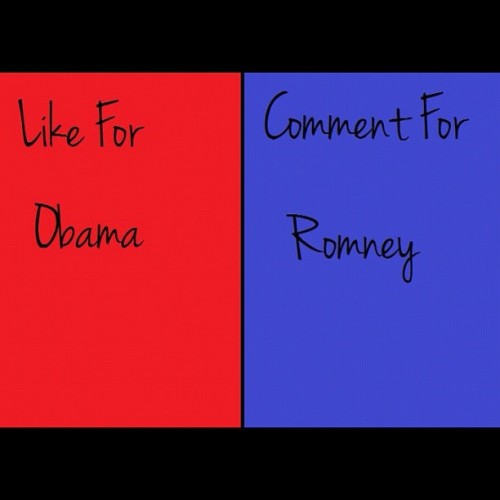 LIKE FOR #OBAMA COMMENT FOR #ROMNEY #barakObama #debate  #instagood #insta #instadm #instagramhub #instapopular  #popular  #HDR #filter #vs #awsome #iphoneography #street #contest  #nice #picoftheday #instanood #200likes #100likes #followback #instameet #iphonesia #ig