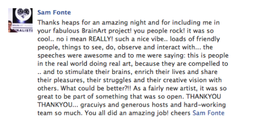 This type of feedback satisfies the soul. Thanks Sam Fonte.