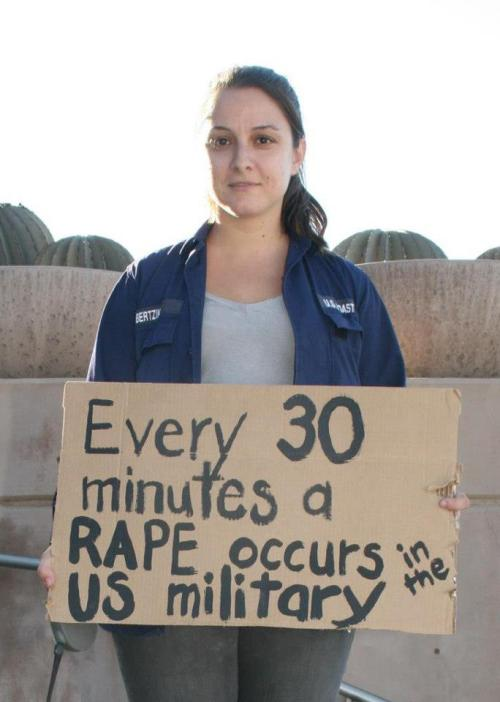 socialismartnature:  Sec. Panetta estimates 19,000 rapes occurring EACH YEAR in the U.S military—that is about 2 rapes per hour. Panayiota Bertzikis, Executive Director of Military Rape Crisis Center and U.S. Coast Guard rape survivor at SlutWalk Phoenix.