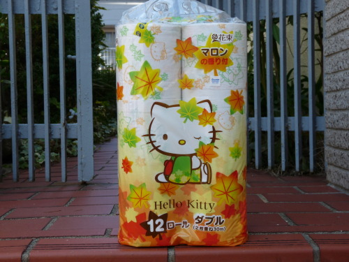 What could be more autumnal than chestnut-scented Hello Kitty toilet paper?
