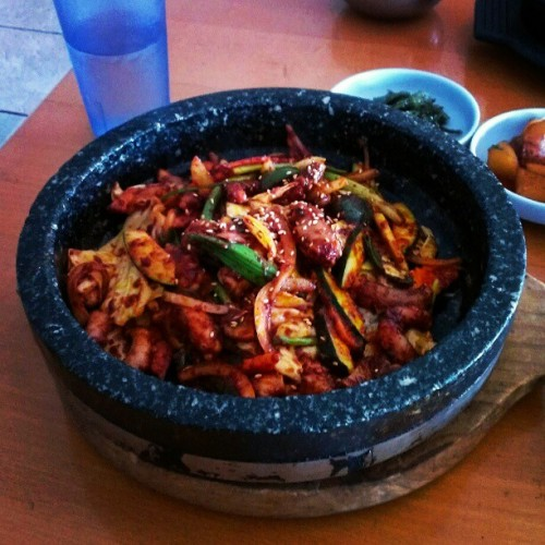 #korean #spicy #octopus #rice #asian  #yummy #food cheat day I guess #thai