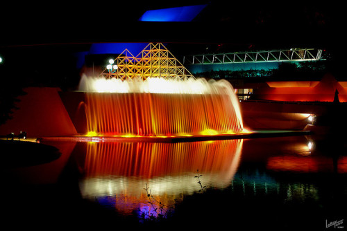 disneyparksafterdark:  ImaginationsNight by TabbPix on Flickr. Imagination Pavilion, Epcot, Walt Disney World