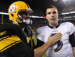 iamtryingtosurvive:  Ben Roethlisberger #7 and Joe Flacco #5