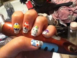 Remake of somebody else's nails I seen!
