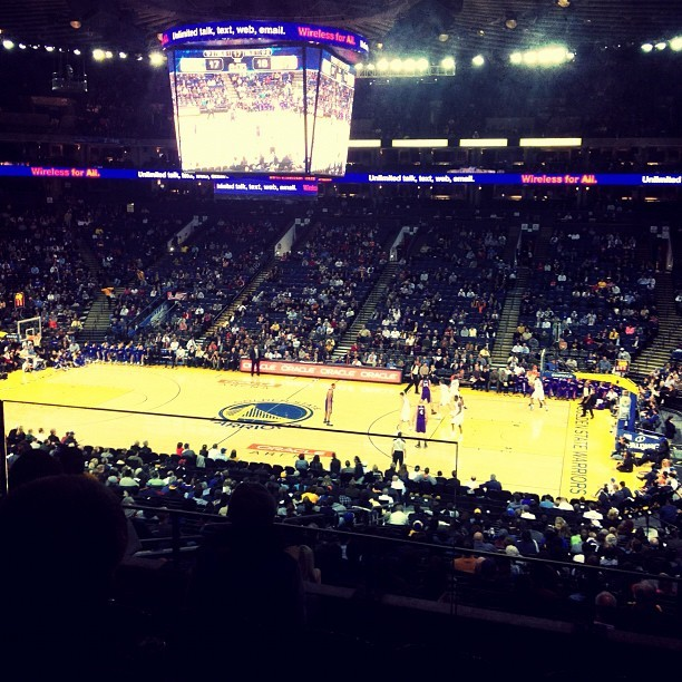 In the Club seats…Press Boxin it'…#warriors  (at O.co Coliseum Diamond Level)