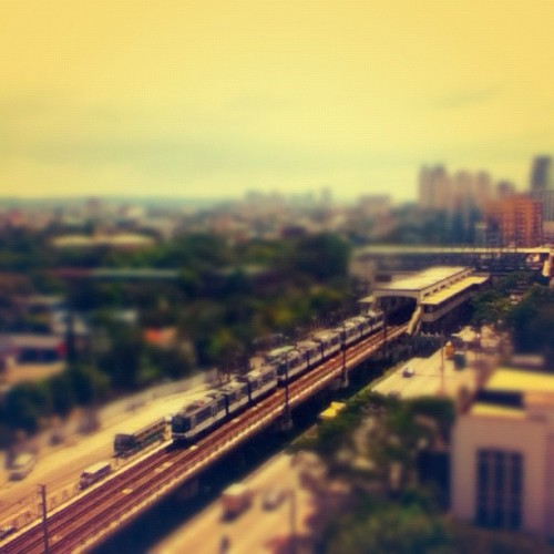 A different point of view (at Yellow Line - GMA-Kamuning Station)