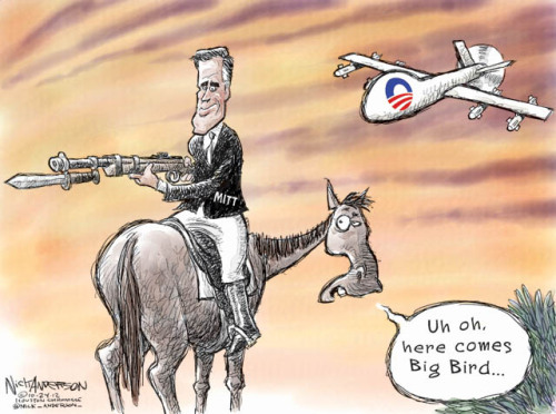 Horses and Bayonets (cartoon by Nick Anderson, Houston Chronicle)