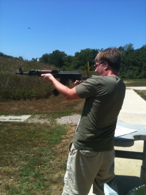 To Do List Number 22: Shoot Big Guns Went out to the range with my boy Polsky and shot a few rounds from an AK-47, shotgun, and Magnum.  First item off the to-do list is done! For more: http://www.robstretch.com/rob-stretchs-bucket-list/