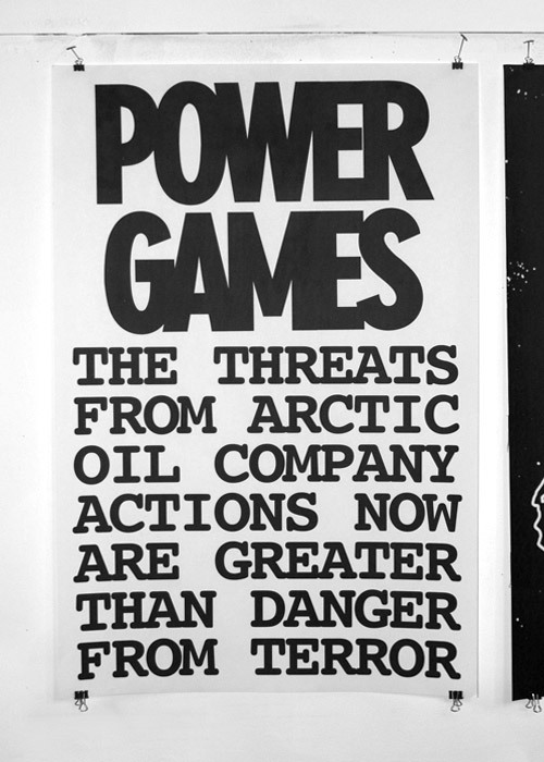 [Image: POWER GAMES poster by WillWorkForGood] Poster series designed in conjunction with the launch of Peter Fend's website inquest.us and the opening of his NY exhibition of the same name.