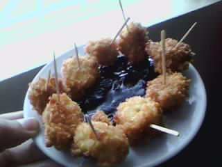 deep-fried-chocolate-coated banana.. found this recipe on tv…this recipe is very easy to make, its like your only frying fried chicken then adding gravy to it….you people should try this….