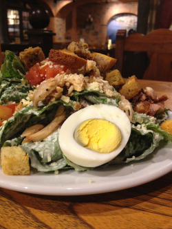 Caesar Salad with Chicken and Egg from Marche. So fresh and tasty :) I love to eat at Marche on weekday when there's not many people.. Aha..