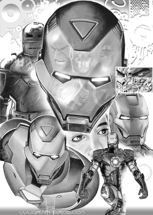 Iron Man collage by GraphixRob Website || Deviantart || Tumblr