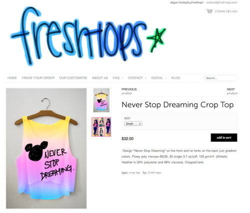OH HEY THAT LOOKS FAMILIAR.  Thanks for stealing my doodle, Freshtops. Not cool. :(