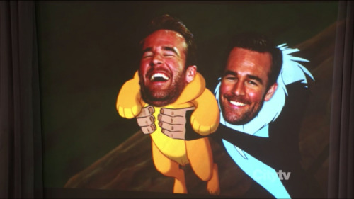 M:  Snort! LOLOLOLOLOL.  Snort!  Snort.  Guffaw!  Cackle!  James Van Der Beek as Lion King scene - hunhuhuh!  Snort!  Cackle!