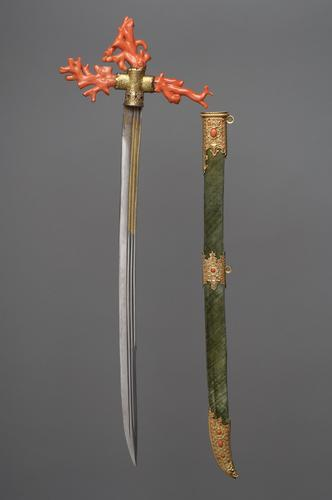 aleyma:  Ceremonial saber of Archduke Ferdinand of Tyrol, made in Italy, c.1560 (source).