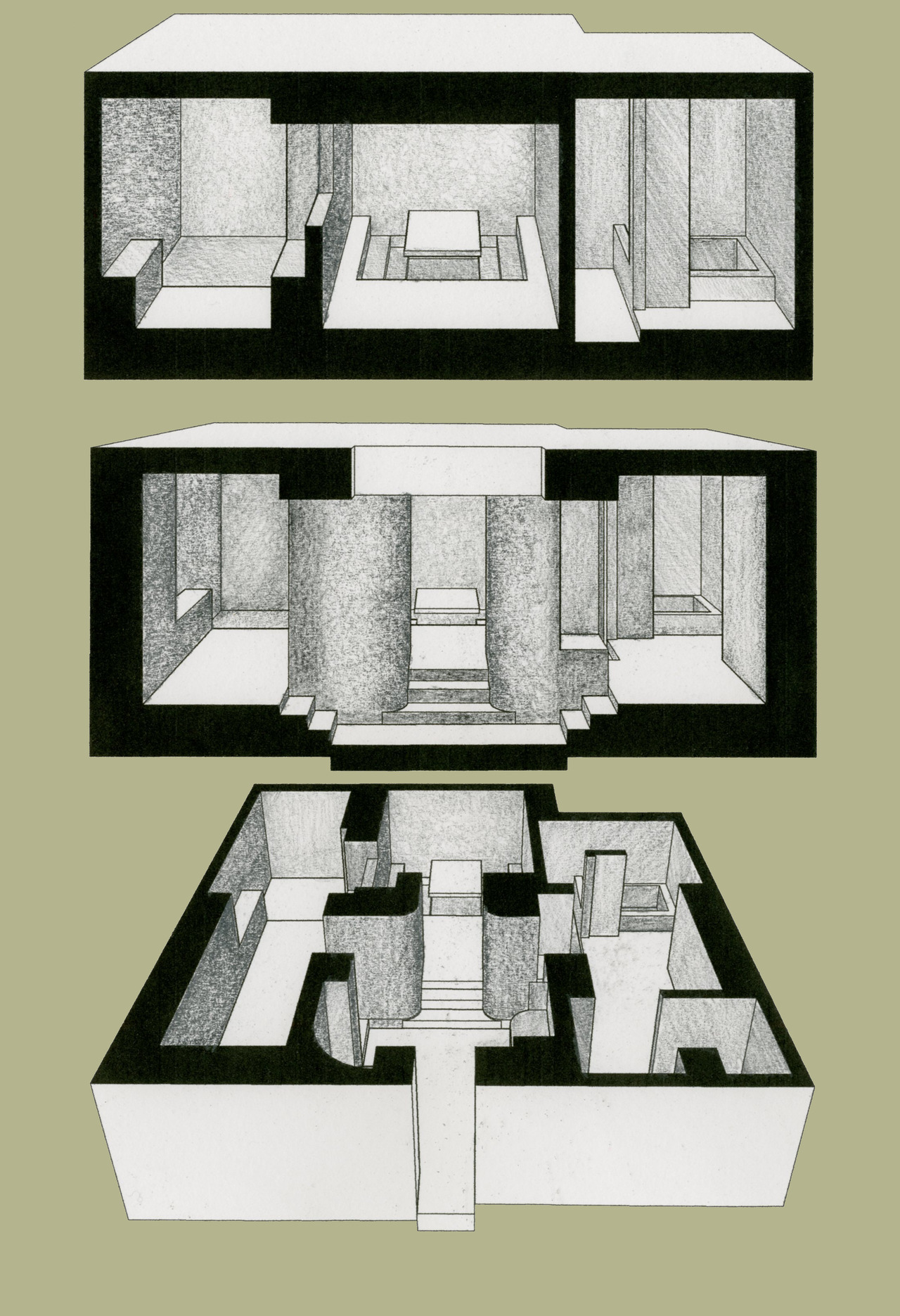 Owen Nichols Room  Sections and plan perspective