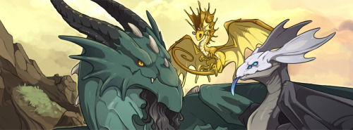 A cropped version of the finished banner image for flightrising.com