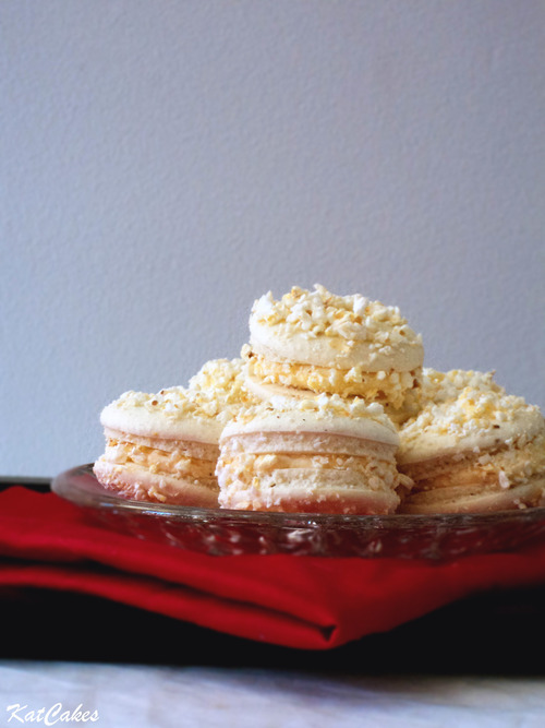 KatCakes - Salted Butter Popcorn Macarons