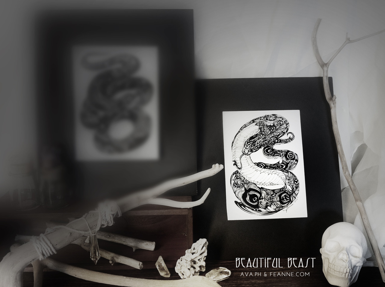 Coming soon: BEAUTIFUL BEAST ~ a series of small original artworks featuring imaginary and fantastic creatures, exclusively on AVA.ph, for the benefit of the kids at PGH (c/o the Black Pearl Philippines' holiday visit in December)  ♥ Feanne / facebook / blog