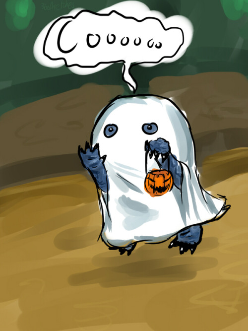 "366sketches:  October 23, 2012  ""Ah - BOO! Quaggan means BOO!""  Whoever doesn't think baby Quaggans are adorable - I just don't know what to say.Especially this fella in Lion's Arch.Dedicated to the Halloween event."