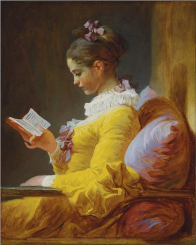 A Young Girl Reading, Jean-Honore Fragonard, c. 1776