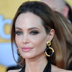 Angelina Jolie in Vintage House of Lavande Hoop Earrings at 2012 SAG Awards