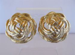 Vintage Givenchy Intertwined Rope Earrings